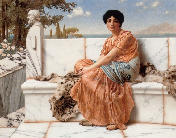 In the Days of Sappho - Cross stitch pattern pdf format