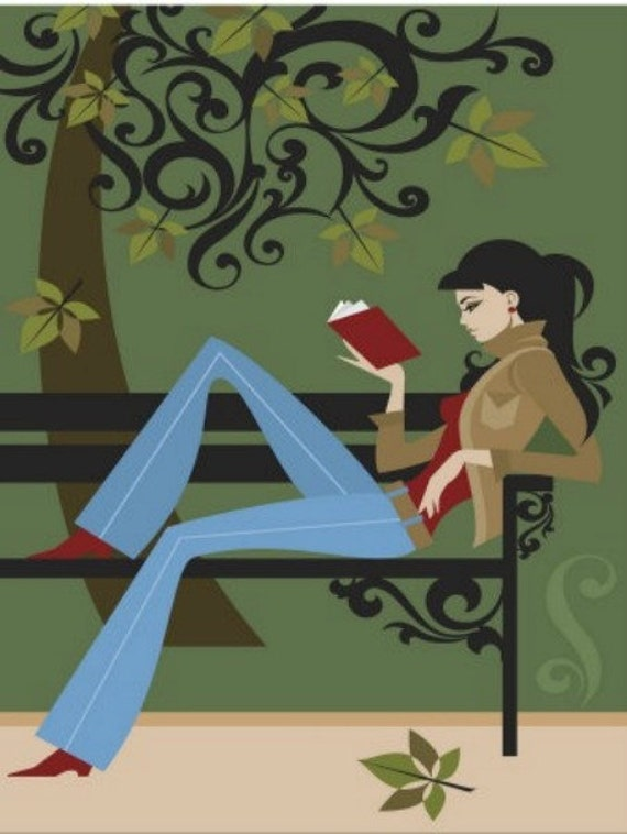Woman Reading - Cross stitch pattern pdf format
