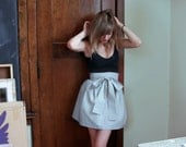 Stormy blue, and white striped skirt - made to order