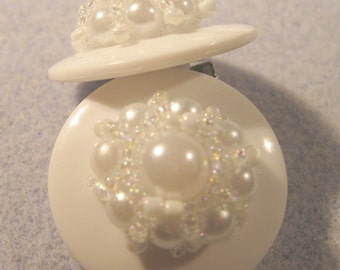 SALE!! Crown of Pearls Button Earrings - DIGITAL TUTORIAL only -