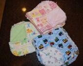 Set of 9 burp cloths