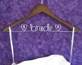 Personalized Bride Hanger - Wedding Dress Hanger - Mrs. Hanger