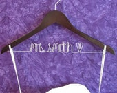 SALE - Bride Hanger - Custom Bridal Hanger - Perfect for Brides & Bridesmaids - Available in Walnut or Maple Wood