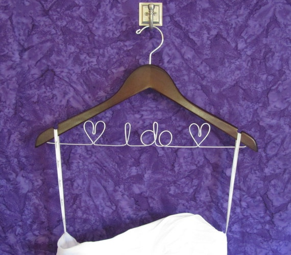 Bride Hanger - Wedding Hanger - Personalized Hanger - Unique Gift for Bridal Shower / Bridesmaids - Available in Walnut or Maple Wood