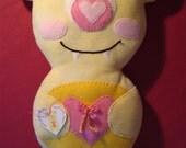 """Pink / Yellow Alien Pillow Monster """"Mollie"""""""