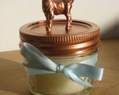 Bronze Goat Beeswax Candle