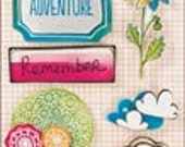 Amy Tangerine Sketchbook Remarks Doodle Dimensional Stickers from American Crafts