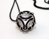 dice necklace, Dungeons and Dragons necklace, dice jewelry, pendant, D20, geeky, geek, 20 sided dice.