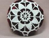 Pincushion, Bowl Stuffer or Ornament with Venetian Motif - Free Shipping