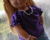 Purple Peasant Shirt for American Girl Dolls