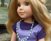 18 inch BFC Ink Doll Cotton Tank Top in Purple with White Dots