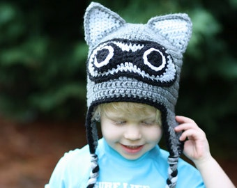 Crochet Racoon Hat