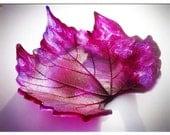 Woodland Wonders - 'Purple Pleasures' Purple Violet Pink & Blue Maple Leaf - Ring Holder, Ring Bearer, Ornament, Gifts, Soap/Trinket Dish, Nature