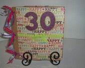Personalized Happy Birthday Premade Scrapbook