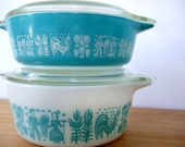 Vintage Pyrex Butterprint Refrigerator Containers Dishes