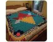 Crochet AFGHAN unicursal hexagram blanket