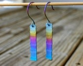 Rainbow Row, Anodized Titanium Earrings