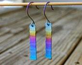 Rainbow Row, Anodized Titanium Earrings
