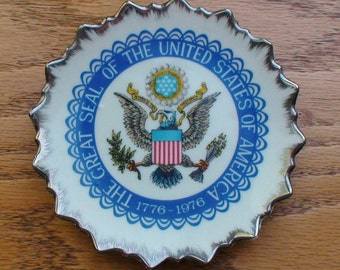 Vintage Great Seal of the United States of America 1776 - 1976 Commemorative Plate