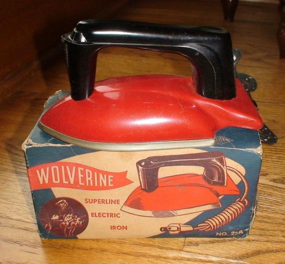 Vintage Wolverine No. 25A Superline Child Electric Iron, Original Package -- Treasury Item