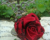 Crimson Rose -- A lovely accessory for formal wear, prom, weddings or fun