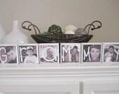RESERVED Set of 6 Custom Photo Blocks- Grammy, Granny, Family, etc.
