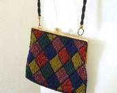 Vintage Beaded Purse - Colorful Magid Formal Purse