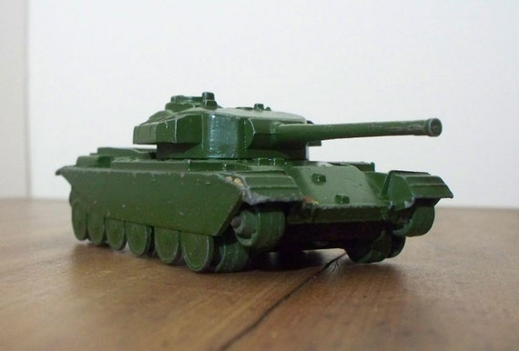 Vintage Metal Toy Tank -  Dinky Supertoys Centurion Tank Metal Die-Cast Toy