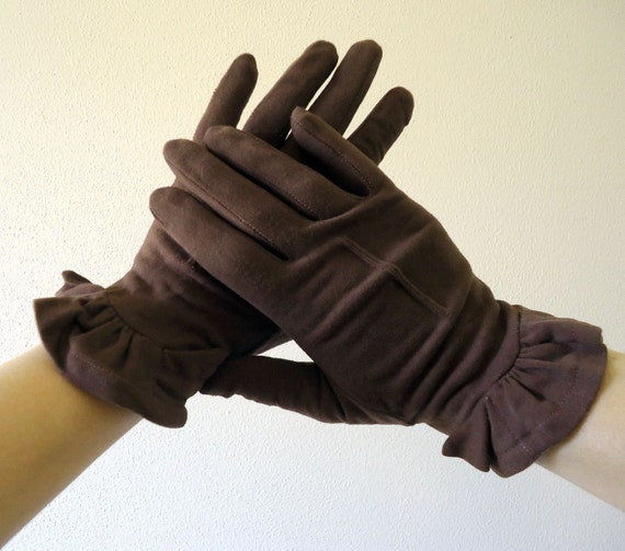 Vintage Gloves Brown Ladies Gloves by Fownes