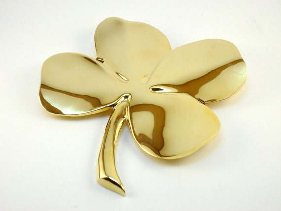 Gold Four Leaf Clover Shamrock by Gerity - Wall Hanging / Paperweight