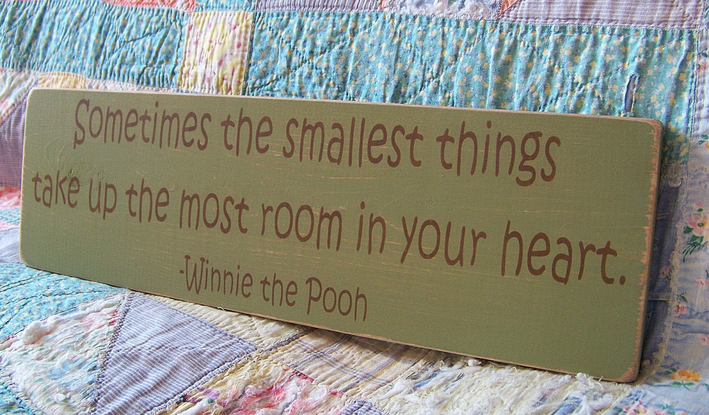 classic winnie the pooh nursery decor wood sign. Black Bedroom Furniture Sets. Home Design Ideas