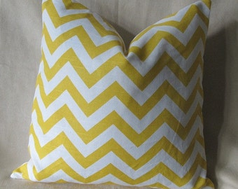 SALE Designer Pillow Cover 12 x18 - Golden Chevron