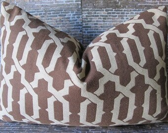 SALE Designer Pillow Cover -  12 x 16, 12 x 18, 10 x 20 - Mod Link -