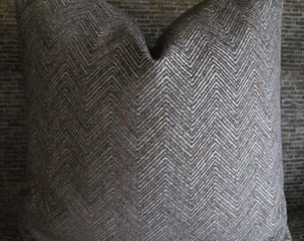 Designer Pillow Cover Lumbar, 16  x16, 18 x 18, 20 x 20, 22 x 22, 24 x 24 - Herringbone Zig Zag Chenille