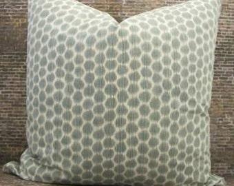 Designer Pillow Cover - Lumbar, 16 x 16, 18 x 18, 20 x 20, 22 x 22, 24 x 24- Echo Dotkat - Silversage