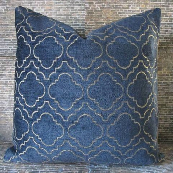 Designer Pillow Cover 16 x 16, 18 x 18, 20 x 20, 22 x 22 - Royal Chenille