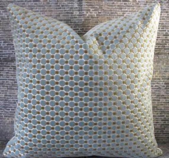 Designer Pillow Cover 20 x 20 - Origami Blue Velvet