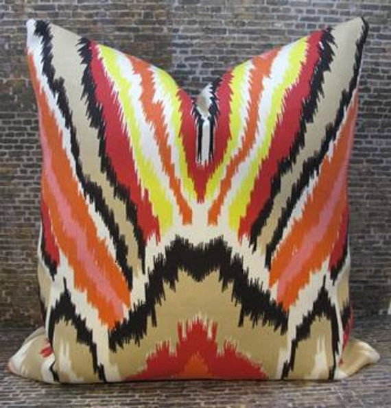 Trina Turk Designer Pillow Cover - 16 x 16, 18 x 18, 20 x 20- Peacock Punch
