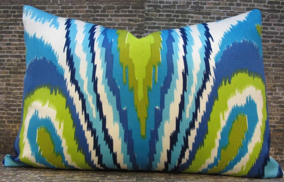 Trina Turk Designer Pillow Cover - 12 x 16, 12 x 18 - Peacock Pool