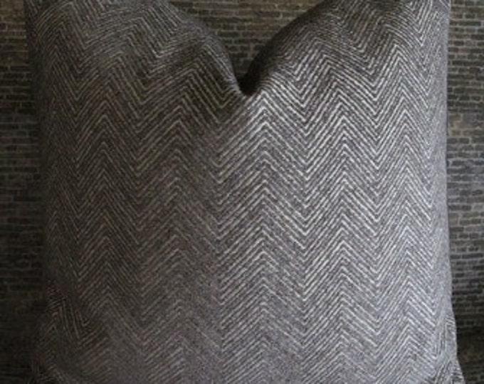 Designer Pillow Cover - Herringbone Zig Zag Chenille