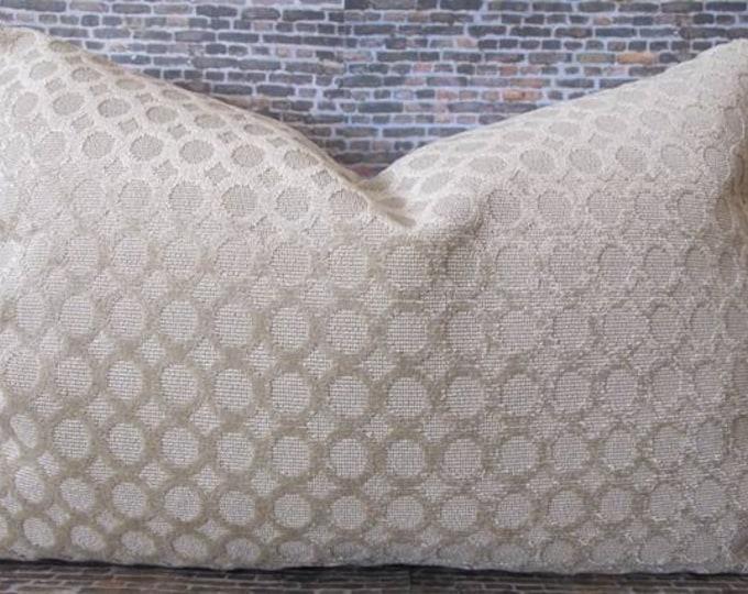 Designer Lumbar Pillow Cover lumbar, 16 x 16, 18 x 18, 20 x 20 - Orb Champagne