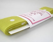 Quilt Binding - Mints in Lime Handmade Quilting Tape, 2 Yards