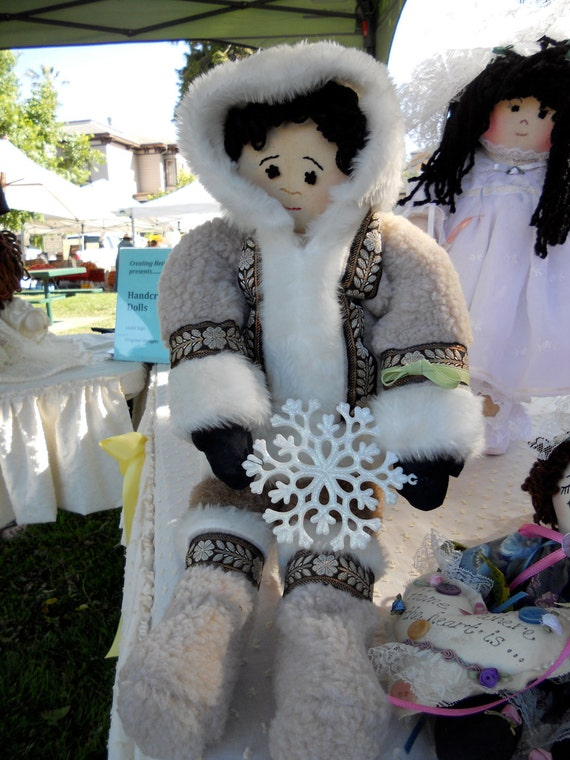 Eskimo 21 inch doll- handcrafted