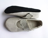 CUSTOM ORDER Ballet flats women shoes handmade natural flower strap