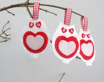 white owl Christmas decorations