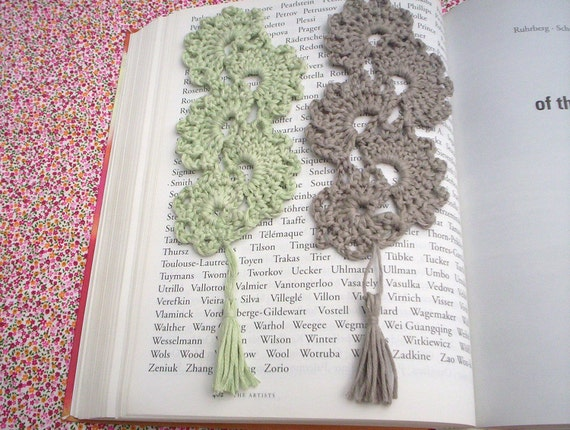 lacy crochet bookmarks, page marker, place marker