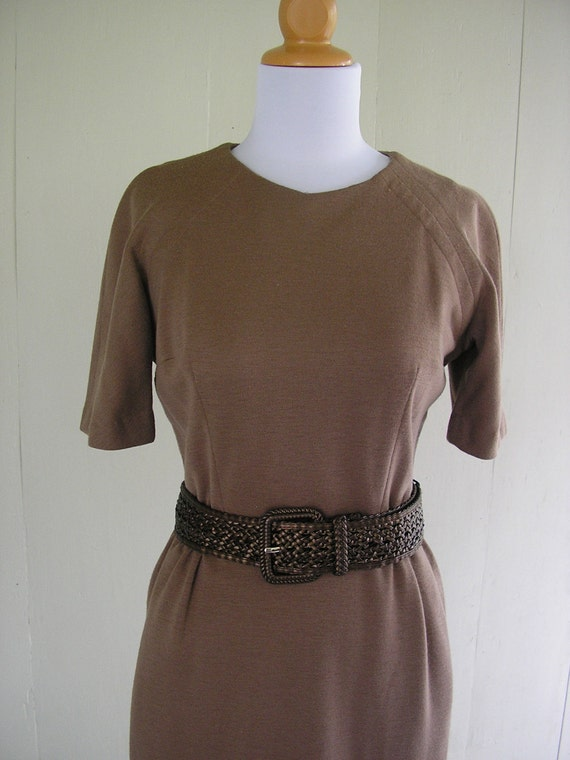 1950s dress /  50s Cocoa Chic wiggle dress