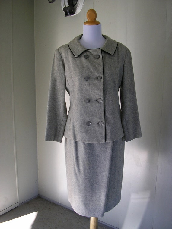 1950s wool suit / 50s wool suit / Fly Away with me two piece wool suite