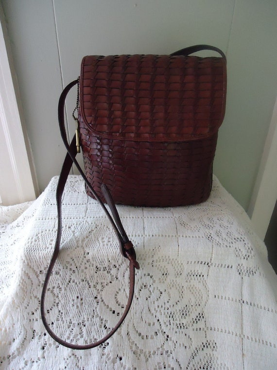 Fossil handbag / Fossil hobo bag / Fossil Woven Leather purse