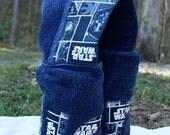 Star Wars FULL-SIZE Hooded Bath Towel -- Child's name appliqued on back -- Star Wars Blocks